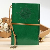 Classic Vintage Retro String Nautical Blank Notebook Diary Journal Sketchbook US,green color