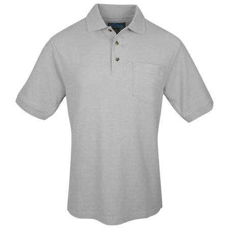 Tri Mountain Mens Big And Tall Pocket Golf Shirt