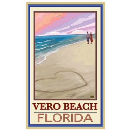 Vero Beach Florida Love On Coast White Giclee Art Print Poster by Joanne Kollman (12
