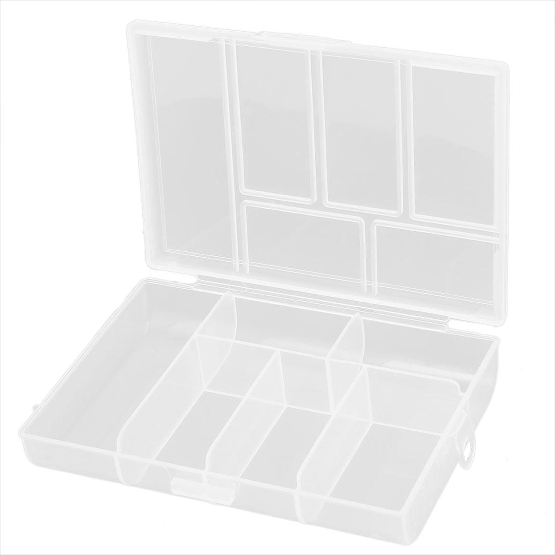 Unique Bargains 6 Compartments Fishing Tackle Box Hook Lure Case by Unique-Bargains