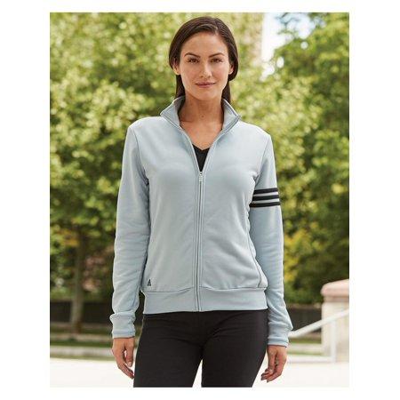 Adidas Fleece Golf Women's ClimaLite 3-Stripes French Terry Full-Zip Jacket
