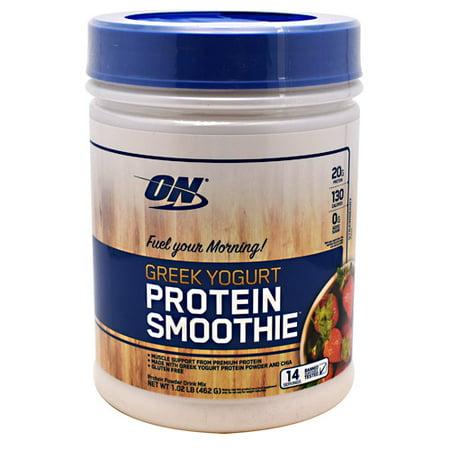 Optimum Nutrition Greek Yogurt Protein Powder, Strawberry, 20g Protein, 1.02