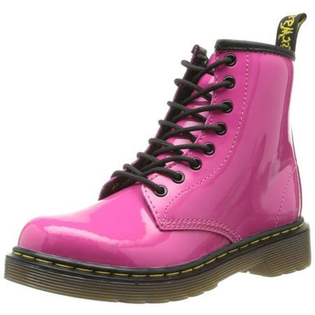 Dr Martens For Girls (Children's Dr. Martens Delaney 8 Eye Side Zip Boot -)