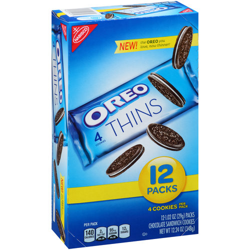 Nabisco Oreo Thins Chocolate Sandwich Cookies, 12oz, 12ct