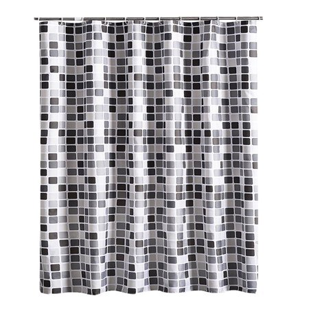Modern Novelty Shower Curtains Bathroom Curtain Liner Fabric Waterproof and Stain Resistant with Hooks (79''Wx87''H,