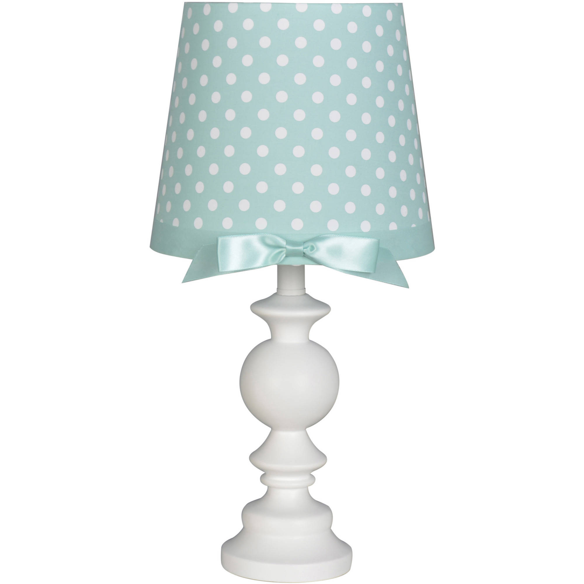 Better Homes and Gardens White Table Lamp with Polka Dot Shade by Mastercraft Distribution USA Inc