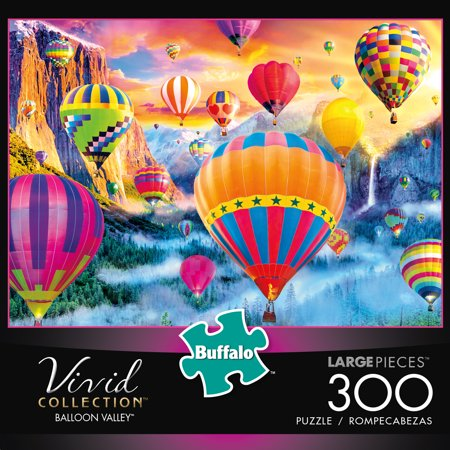 Large Puzzle (Buffalo Games Vivid Collection Balloon Valley 300 Large Piece Jigsaw)