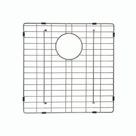 "KRAUS KBG-103-33-1 Stainless Steel Bottom Grid for KHU103-33 Left (Large) Bowl 33"" Kitchen Sink, 16 1/2"" x 16 1/2"" x 1 3/8"" Large Rectangular Sink Grid"
