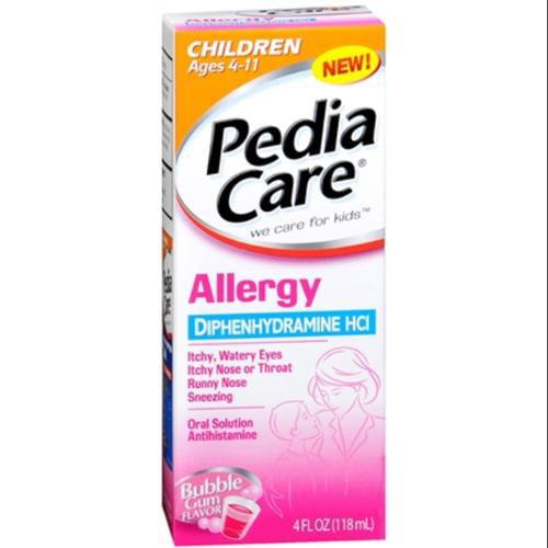 PediaCare Children's Allergy Liquid Bubble Gum 4 oz (Pack of 2)