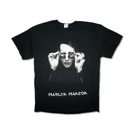 Marilyn Manson Men's  Specs 2015 Hell Tour (Tokyo-Manchester) T-shirt Black - Marilyn Manson Halloween Mix
