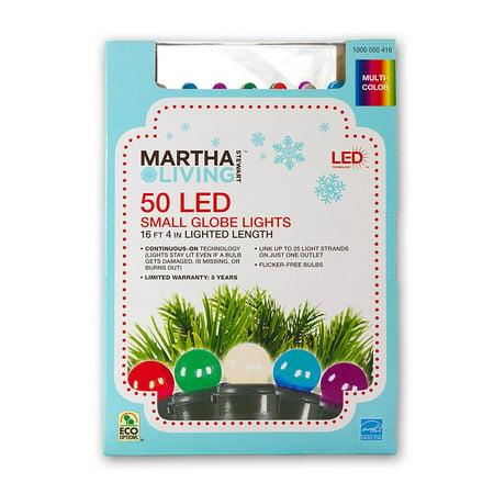 50-Light Multi-Color Mini Smooth Globe Light Set, Wattage (watts) 8.4 By Martha Stewart Living Ship from US](Martha Stewart Living Halloween)