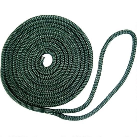 "Buccaneer Dock Line Double Braid Nylon Hunter Green 3 8"" X 25' 30-27725 by BUCCANEER ROPE"