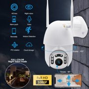 1080P WIFI Outdoor Home Security IP Camera Wireless HD Waterproof Night Vision + 8G TF Card