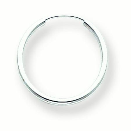 14K White Gold Madi K White Gold Endless Hoop Earrings - image 1 of 1