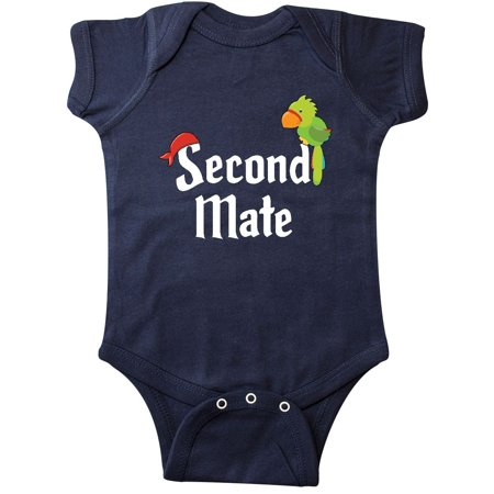 Pirate Funny Infant Bodysuit - Second Mate pirate with parrot and bandanna Infant Creeper