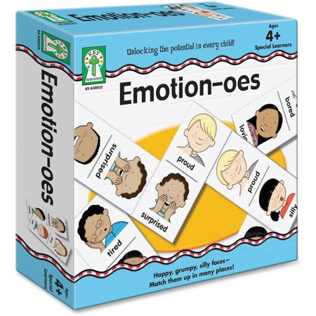 Carson-Dellosa, CDP840022, Emotion-oes Board Game, 56 Each, (Best Pc Games For Toddlers)