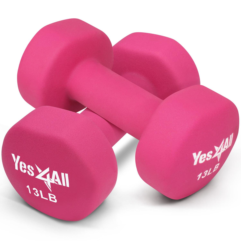 Neoprene Dumbbell Pair Yes4All 9 lb Dumbbell Weight Set with Non-Slip Grip