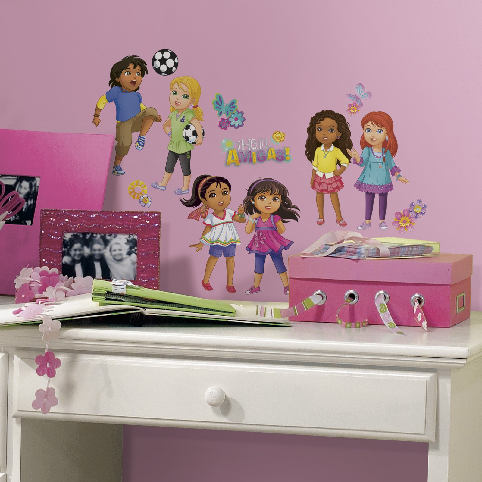 Dora and Friends Peel and Stick Wall Decals