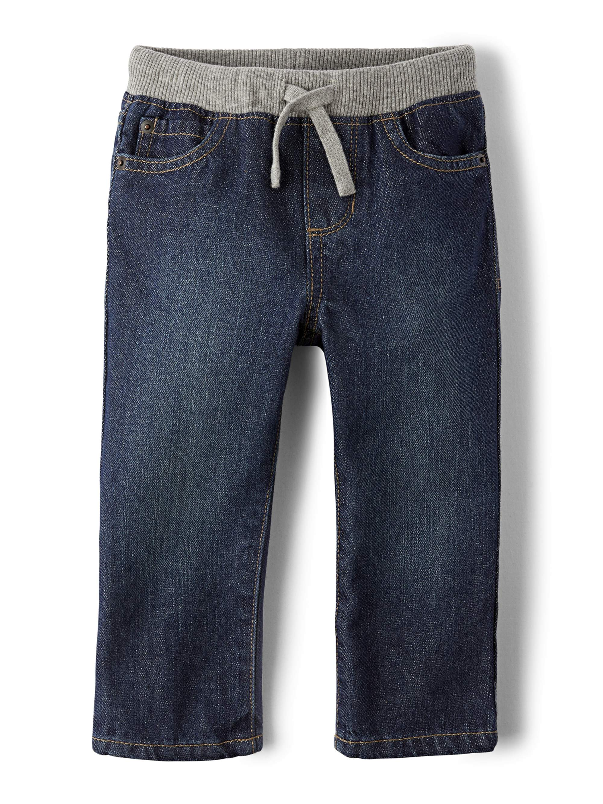Knit Waist Band Pull-On Jeans (Toddler Boys)