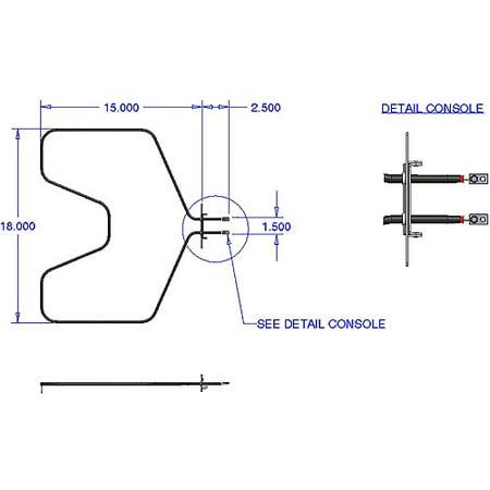 Range Kleen Bake Element, Fits GE, RCA, Kenmore, Hotpoint (Hotpoint Glass Range)