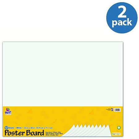 (2 Pack) Pacon Poster Board Package, White, 10 / Pack (Quantity) - Poster Paper Walmart