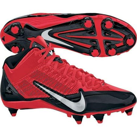 Nike Alpha Pro 3/4 D Men's Detachable Football Cleats Black/Red-Metallic