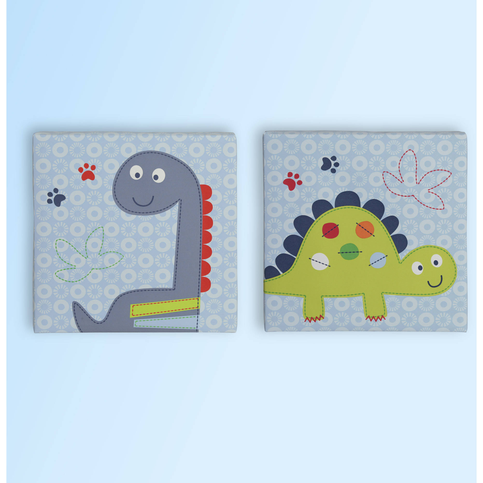 Bananafish Little Dino Wall Art, 2pk
