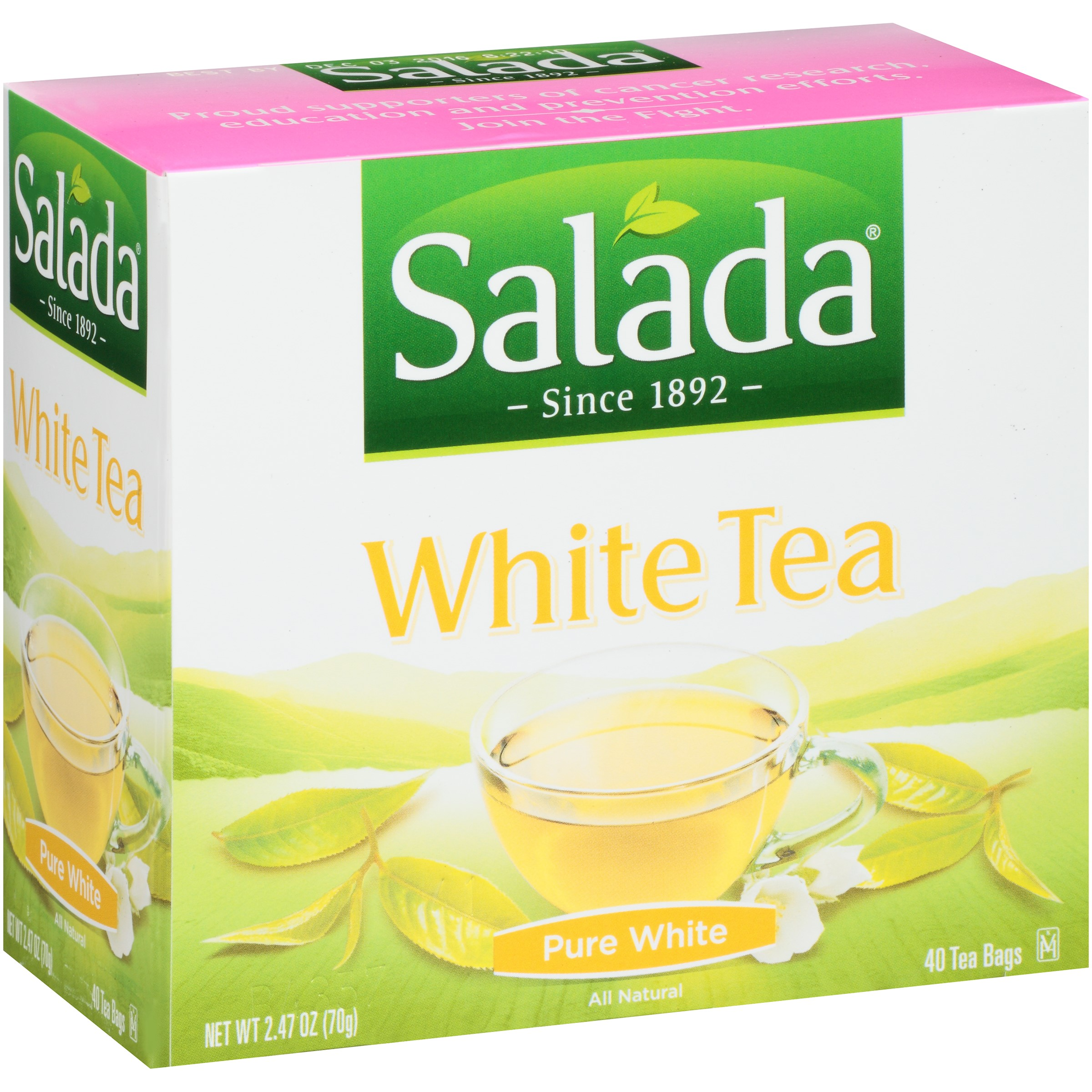Salada White Tea Pure White - 40 CT