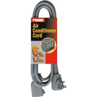 Prime Air Conditioner and Major Appliance Extension Cord, Gray, 6-Feet