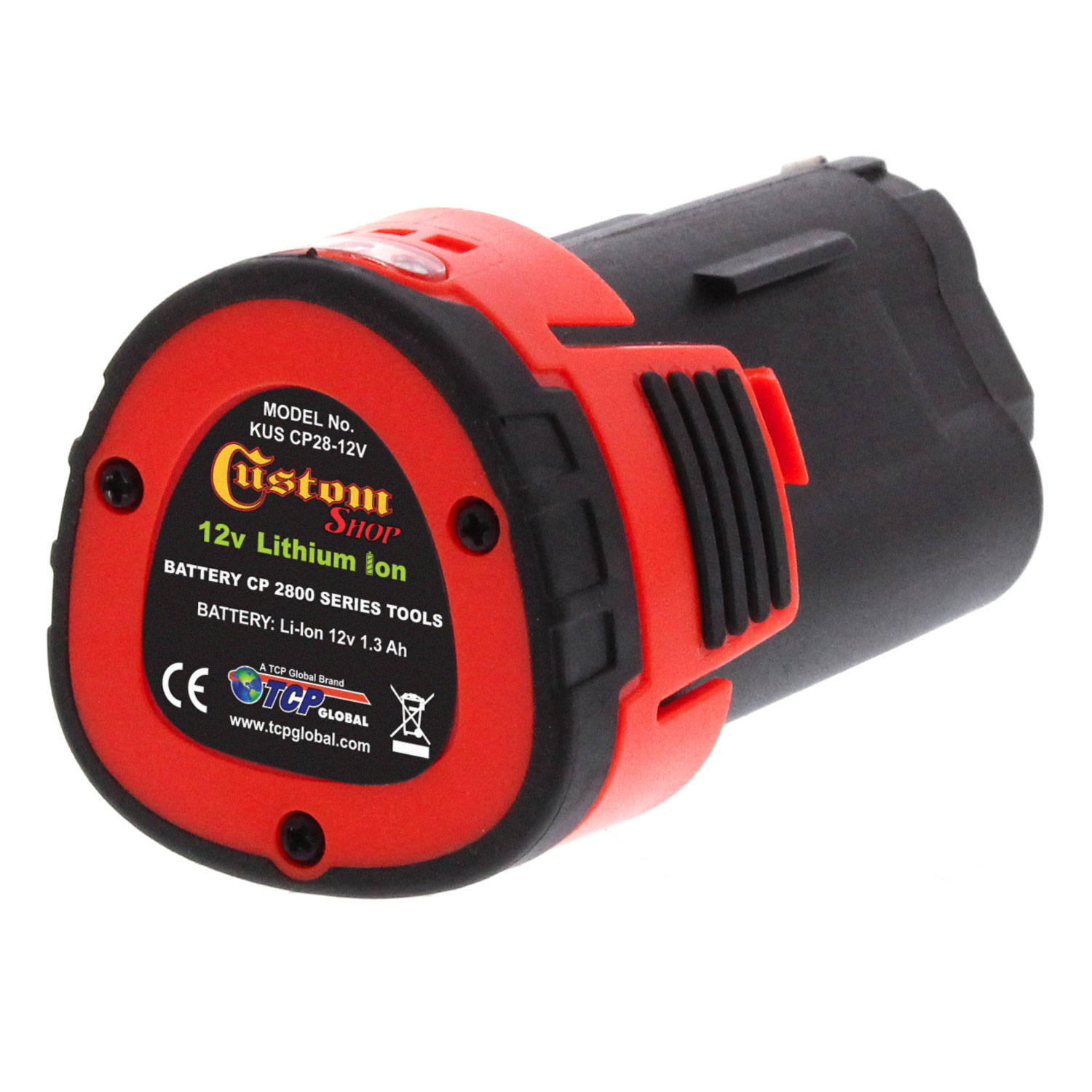 "Custom Shop CP28-12V 12 Volt Lithium-Ion Battery - Only Fits Model P2800 Professional 3"" Cordless Mini Rotary Polisher"