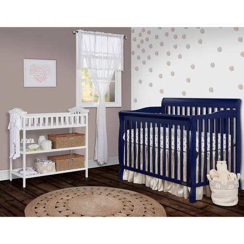 Dream On Me Ashton Convertible 5-in-1 Crib, Royal Blue