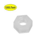 Electronics-Salon 1000PCS Metric M8 Black Nylon Acorn Hex Cap Nut.