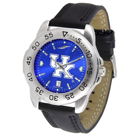 "Kentucky Wildcats NCAA AnoChrome ""Sport"" Mens Watch (Leather Band)"