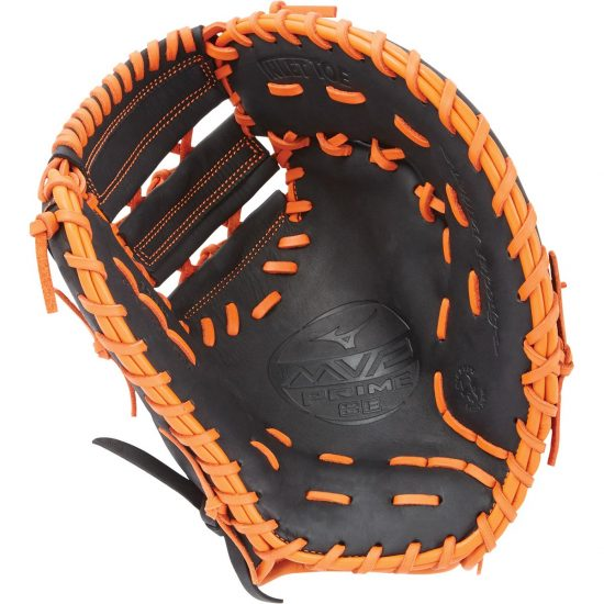 Mizuno MVP Prime SE GXF50PSE6 Baseball First Base Mitt LHT Black Orange by