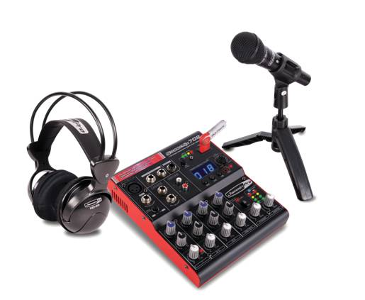 Click here to buy Dj Tech STUDIOPACK702 Full Digital Recording Studio Kit W 7-channel Mixer W usb Recorder,... by Jammin Pro.