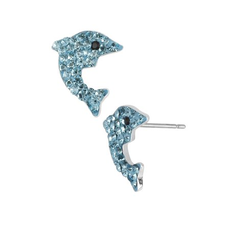 Pave Dolphin Stud Earrings