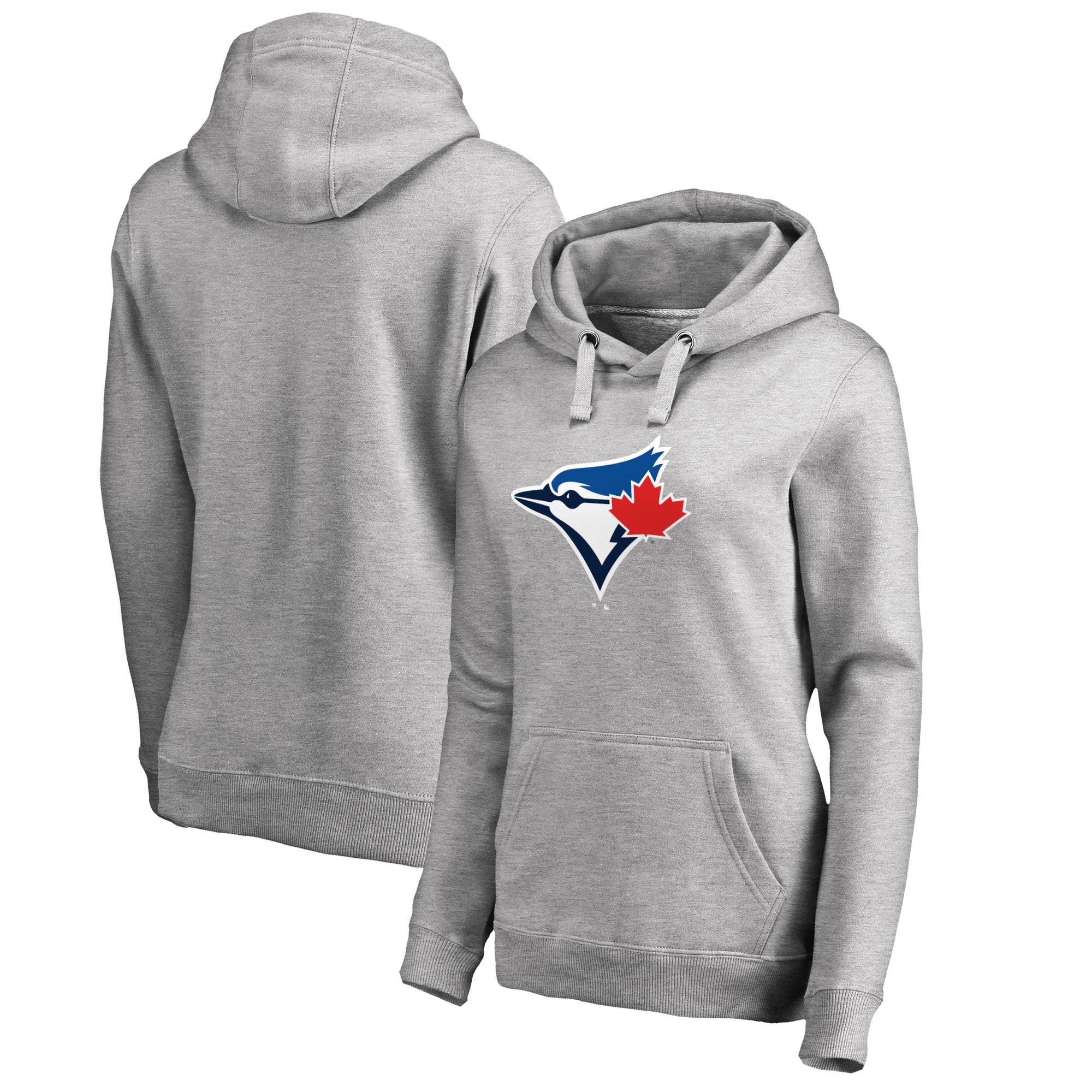 Toronto Blue Jays Women's Plus Sizes Primary Team Logo Pullover Hoodie - Ash