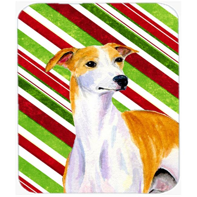 Carolines Treasures LH9238MP Whippet Candy Cane Holiday Christmas Mouse Pad, Hot Pad Or Trivet - image 1 de 1