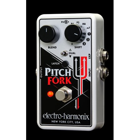 Electro Harmonix Pitch Fork Polyphonic Pitch Shifter Pedal with Power Supply Part Number:
