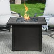 Endless Summer LP Gas Outdoor Fire Pit, Slate Tile Mantel