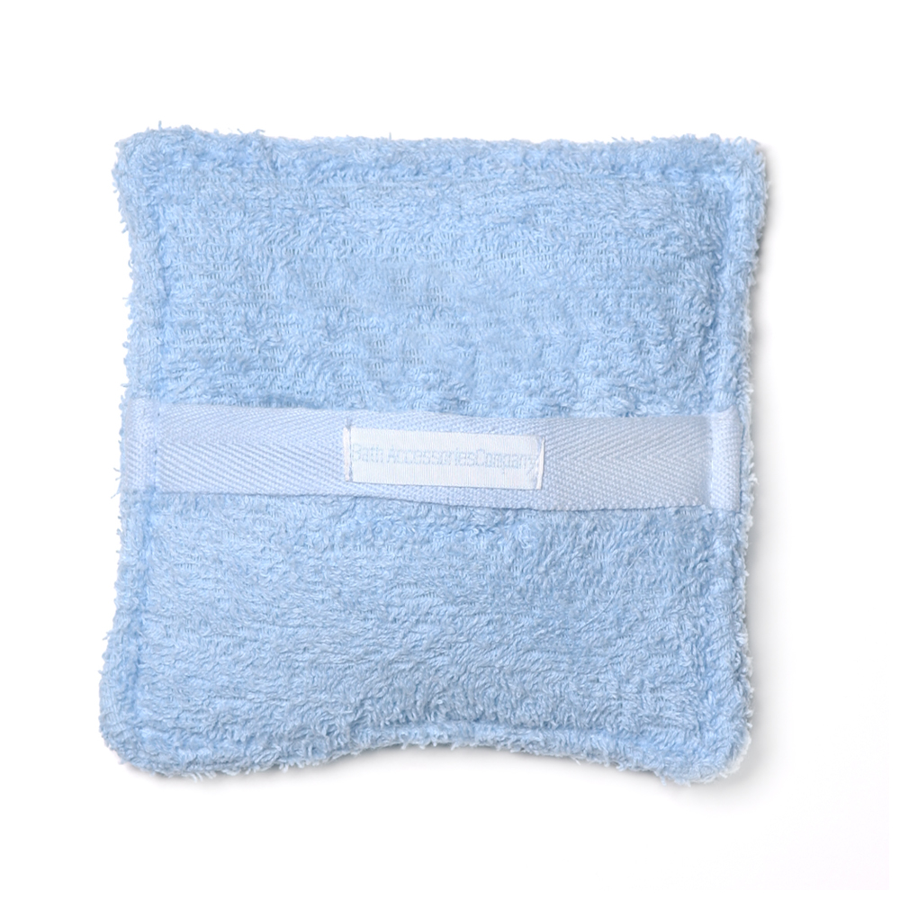 Spa Sister Terry Soaping Sponge Pocket, Blue