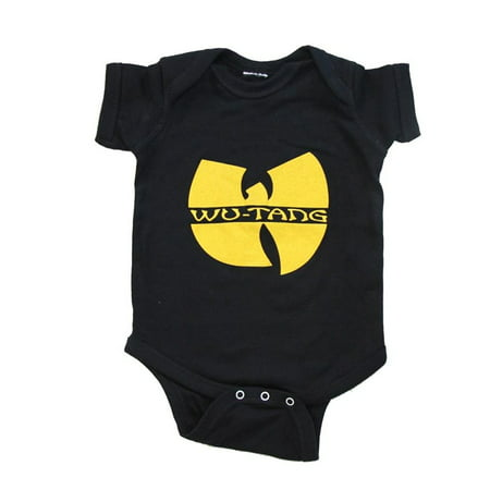 Wu-Tang Clan Logo Black Infant Baby Onesie (Black Baby Onesie)