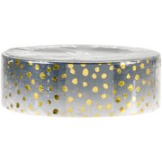 Love My Tapes Foil Washi Tape 15mmx10m-Black Gold Dots