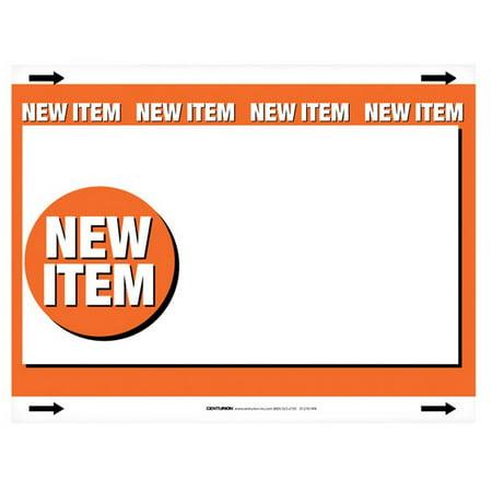 Centurion 7061300 New Item Sign, Card Stock, 7