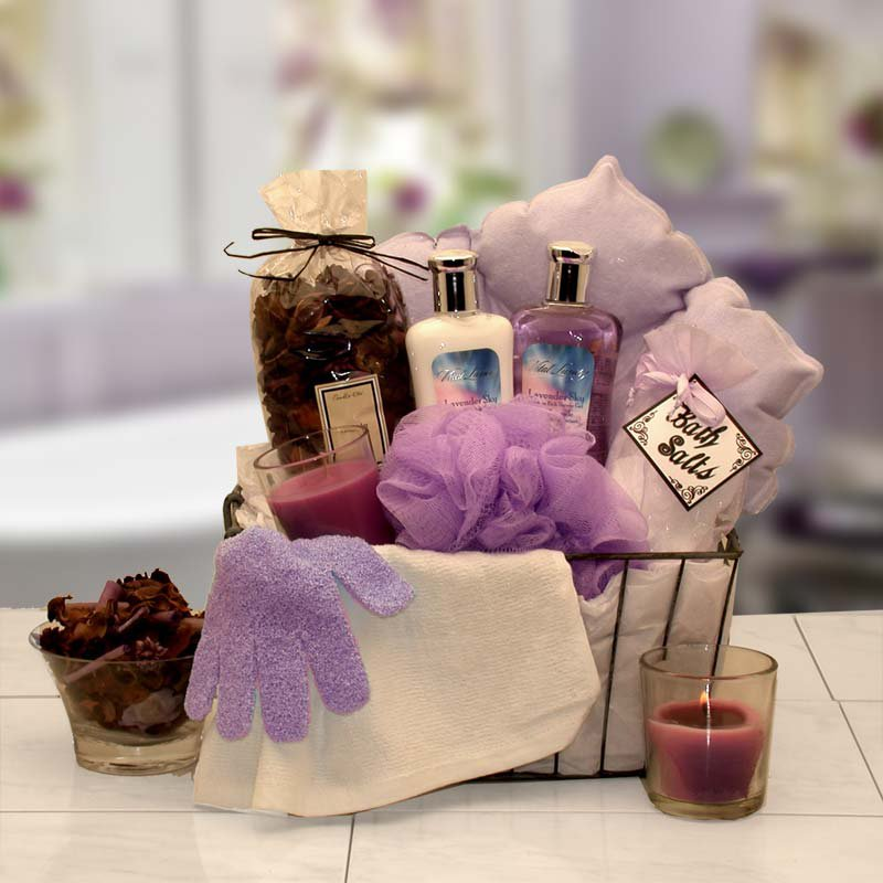 Bath & Body Spa Caddy Gift Basket