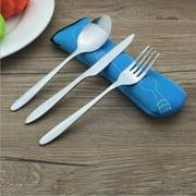 Stainless Steel Table Knife Fork Spoon Teaspoon Set Dinnerware Tableware Cutlery