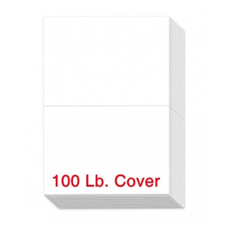 Extra Thick 100lb White Uncoated Cover Stock Half Fold Greeting Cards / Invitations, 5.5 X 8.5 Inches When Folded - 50 Cards Per Pack
