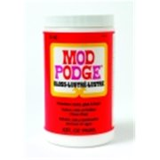 Mod Podge Fast Dry Non-Toxic Non-Flammable Tissue Glue And Glaze - 1 Quart Jar, Gloss