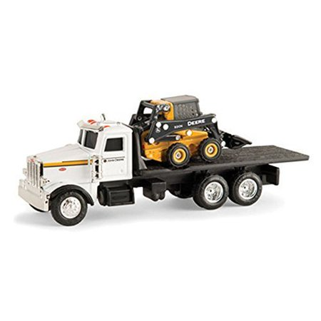John Deere 1/64 Scale 320E Skid Steer with Truck 10 Scale Trucks