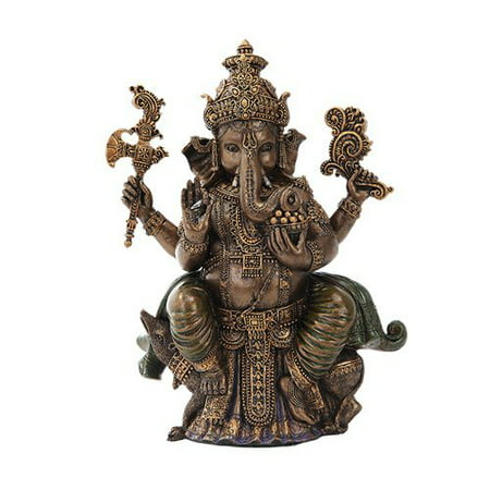 8 Inch Sitting Ganesha Indian Hindu Mythological Statue Figurine 8' Sacred Heart Statue